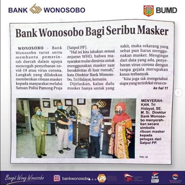 BANK WONOSOBO BAGI SERIBU MASKER